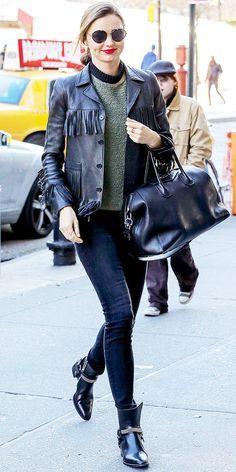 Miranda Kerr Brings Back The Fringe Jacket
