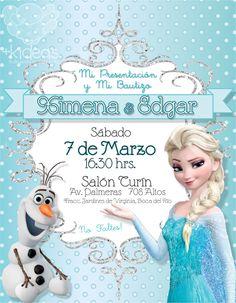 Frozen Elsa y Olaf Tiffany Frozen Birthday Party, Frozen Birthday Invitations, Frozen Theme Party, 7th Birthday, Frozen Princess, Elsa Frozen, Disney Frozen, Princess Theme, Christening Invitations Girl