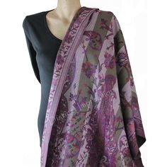 Pashmina - Wrap yourself in one of these luxuriously purple pashmina shawl / scarf..Flip it to the other side for a new scarf.