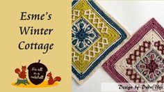 Esme's Winter Cottage - Crochet Square - free pattern