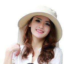 UV Sun hats women summer hats Sun (Beige) 30th floor http://www.amazon.com/dp/B01D4JT8EW/ref=cm_sw_r_pi_dp_E.E.wb1R3VPPT