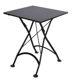 French bistro 32 x 48 inch rectangular steel outdoor folding table furniture designhouse french caf bistro folding table jet black frame 24 x 24 x 29 height square steel metal top you can get additional details at the watchthetrailerfo