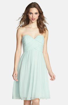 Donna Morgan 'Morgan' Strapless Silk Chiffon Dress | Nordstrom ...