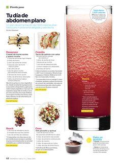 Tu día de abdomen plano: plan de alimentación de 1,500 calorías: Healthy Drinks, Healthy Tips, Healthy Eating, Healthy Recipes, Healthy Weight, Healthy Food, Clean Eating Plans, Flat Belly Foods, Estilo Fitness