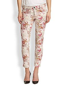 Flirty floral jeans.  Genetic Brooke Floral-Print Cropped Skinny Jeans | Pretty Little Liars