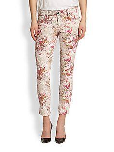 Flirty floral jeans.  Genetic Brooke Floral-Print Cropped Skinny Jeans   Pretty Little Liars
