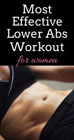 The best lower abs workout for women.
