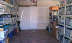 Garage organizing tips. From clutter to awesome storage for holiday decorations, costumes and lighting.