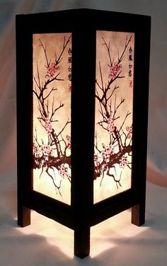 Asian Table Lamps Asian Table Lamp #umbrella Handmade Wooden #bedside Light From