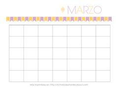 Calendarios Personalizables: Calendario de Marzo