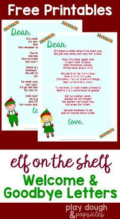 Elf On The Shelf 9 Page Free Printable Pack includes everything you need to have a successful visit from your elf! Includes welcome/goodbye letters and more