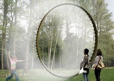 Art installations to play with or envisage different worlds. The Ordrupgaard museum has commissioned works to be installed in the museum's playground