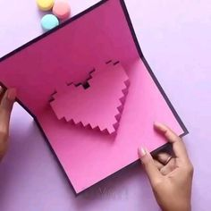 Diy Crafts Hacks, Diy Crafts For Gifts, Creative Crafts, Cool Paper Crafts, Paper Crafts Origami, Instruções Origami, Pinterest Diy Crafts, Diy Birthday, Valentine Crafts