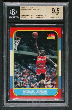 57a24414521 Michael Jordan rookie card BGS 9.5. Take a look at the hottest Jordan cards  on