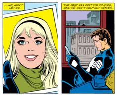 Peter thinks about Gwen in Amazing Spider-Man Annual #21