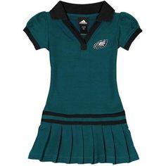 Philadelphia Eagles Toddler Girls Pleated Sundress - Midnight Green