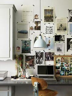 Fotowand Arbeitszimmer Wand dekorieren