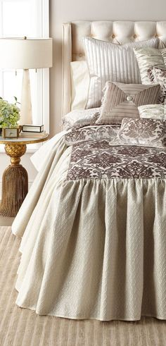 Looking for designer bedding sets? Find a sumptuous collection of designer and luxury bedding sets from all the top brands. Linen Comforter, Comforter Sets, Luxury Bedding Sets, Quilt Sets, Bed Design, Bed Spreads, Comforters, Duvet Covers, Master Bedroom