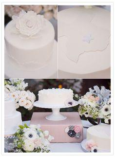 White Cake: white wedding cake inspiration