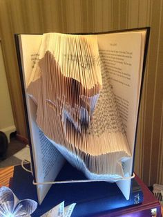 Book folding pattern for a Mermaid FREE by BookFoldingForever