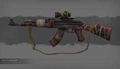 ak47 weapon design concept art gun