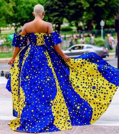 Who says that Ankara can't make you happy?, Whenever you want to attend an event or occasion, try applying the Ankara code (Wear an ankara outfit) and observe how wonderful ankara wears are. Have a blissful Monday with Darlingnaija. African Dresses For Kids, African Maxi Dresses, Latest African Fashion Dresses, African Print Fashion, African Attire, Ankara Fashion, African Prints, African Wear, Women's Fashion
