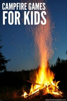 Here are some fun campfire games to play with the entire family. These bonfire games and fun camping games for families are free and fun to play. These are also fun campfire games for adults. Try these campfire activities this summer!  #onecrazymom #campfiregames #campinggames #campgames #kidsgames #familygames