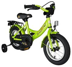 Bikestar 12 inch (30.5 cm) Kids Childrens Boys Bike Bicycle Classic - Green