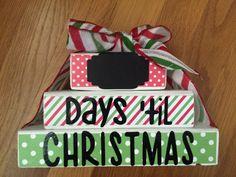 """Days Until Christmas"" Countdown Wood Blocks"