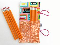 Mini Pencil Roll  Mixed Tape  by paperfromheaven