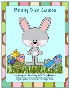 Learning and Teaching With Preschoolers: Bunny Dice Game Freebie