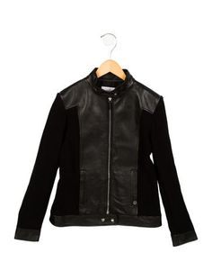 Gucci Girls' Leather Paneled Jacket