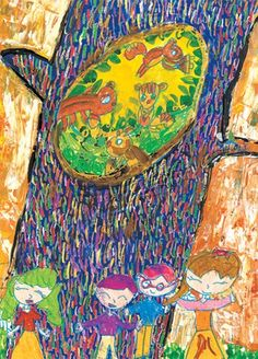 Drawing For Kids, Painting For Kids, Art For Kids, Group Art Projects, School Art Projects, Autumn Art, Art Classroom, Art Club, Elementary Art