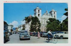 Postal del Parque Central de Tegucigalpa en la decada de 1950 Tegucigalpa, Heart Of America, Latin America, Honduras, Homeland, British, Street View, Adventure, Bread Crumbs