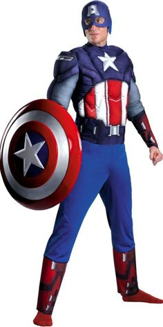 Adult Captain America Costume - Party City- Troy