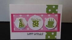 Polka Dot Happy Birthday by MeganBeth - Cards and Paper Crafts at Splitcoaststampers