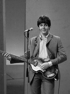 """#PaulMcCartney at rehearsals for the TV show """"Thank Your Lucky Stars"""", 1964 #TheBeatles"""