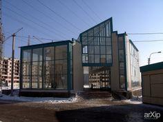 Цветочный павильон ,м. Купчино, СПб: архитектура, 3 эт | 9м, минимализм, магазин, супермаркет, 100 - 200 м2, здание, строение, фасад - стекло #architecture #3floors_9m #minimalism #shop #supermarket #100_200m2 #highrisebuilding #structure #facade_glass