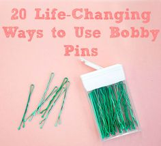 store your bobby pins in an old tic tac container.