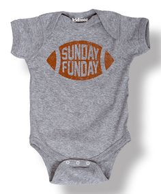 This Athletic Heather 'Sunday Funday' Football Bodysuit - Infant by LC Trendz is perfect! #zulilyfinds
