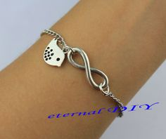 Infinity fashion charm bracelet pendant bird by eternalDIY on Etsy, $2.59