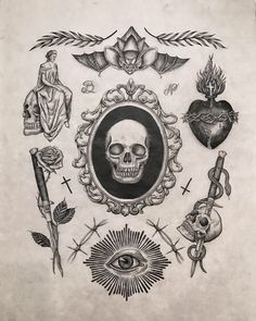 SPEGELDÖDSKALLEN!!! Flash Art Tattoos, Tattoo Flash Sheet, Body Art Tattoos, Hand Tattoos, Arrow Tattoos, Ship Tattoos, Black Ink Tattoos, Small Tattoos, Tiny Tattoo