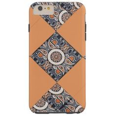 """Title : 4, Ethnic, India, Squared Floral Print Tough iPhone 6 Plus Case  Description : Fashions, """"Trendy-Designs"""", """"Stylish-Décor"""", Fabrics, Patterns, Bohomian, Moroccan, India, Decorations, Contemporary, Modern, Ethnic, Boho, Tribal, Kilim, Tapestries, Unique, Abstract, Flowers, Floral, Gypsy, Paisley, Art, Chic, Hippie, """"Eastern-Europe"""", """"Quilting-Fabrics"""", """"Home-Décor"""", """"Home-Accents"""", Colorful, Geometric, Cute, Whimsical, Batik, Retro, Vintage, """"Native-American"""", """"Tribal-Prints…"""