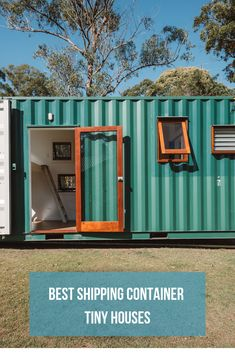 container house An assortment of some of the best shipping container houses that were built as part of the tiny home movement Container Cabin, Storage Container Homes, Storage Containers, Container Buildings, Container Architecture, Shipping Container Office, Shipping Containers, Surf Shack, Prefab Homes