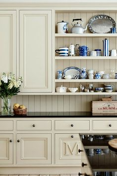 A great way to add a touch of color in the kitchen