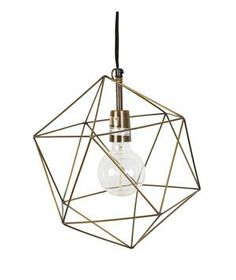 Magical Thinking Geo Pendant: Combine lighting and sculpture with this geometric metal cage that surrounds a simple bulb.