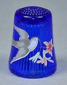 RP:  ULLMANN  CRYSTAL  BLUE  THIMBLE  BIRD  | eBay.com