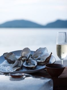 Check this out: Oysters And Champagne On The Mediterranean Sea. Looks like heaven! #oysters #winetime