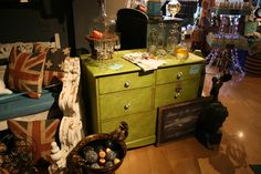 This apple green hand painted dresser could be that pop of color you are looking for. Hand Painted Dressers, Color Pop, Home Goods, Apple, The Originals, Green, Painting, Painting Art, Paintings