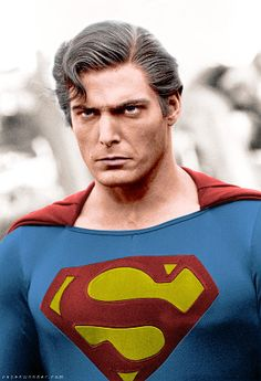 """Christopher Reeve as """"Bizarro,"""" the """"evil"""" and """"corrupted"""" incarnation of Superman from the film """"Superman III"""". Superman Movies, Superman Art, Superman Man Of Steel, Dc Movies, Superhero Movies, Batman And Superman, Christopher Reeve Superman, Superman And Lois Lane, Univers Dc"""